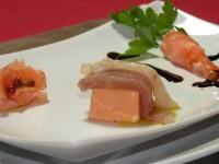 Rose al pepe rosa, Carotine di formaggio, Brividi di Pesce